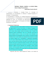 Los Medios de Defensa Tecnica Contra La Accion Penal
