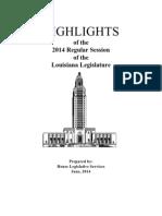 HIGHLIGHTS 2014 Regular Session