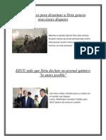 El Plan Ruso Para Desarmar a Siria Genera Reacciones Dispares