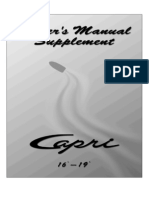 Owner's Manual Supplement - Capri 16' - 19'