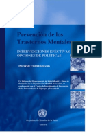 Prevention of Mental Disorders Spanish Version
