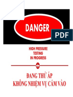 Pressure Test Warning