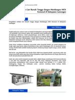 Proposal CSR Pembangunan MCK Komunal Lamongan