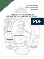 Relacion Esfuerzonormal vs Deformacion Unitaria Normal Del Acero - Copia