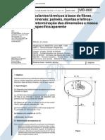 NBR 11356_89 (MB-860) - Isolantes Térmicos à Base de Fibras Minerais Painéis, Mantas e Feltros - Determinação Das Dimensões e Massa Específica Aparente - 2pag