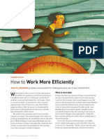 JLDoumont, How to Work More Efficiently