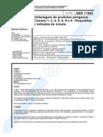 NBR 11564_02 - Embalagem de Produtos Perigosos - Classes 1, 3, 4, 5, 6, 8, e 9 - Requisistos e Métodos de Ensaio - 7pag