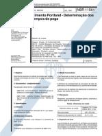 NBR 11581_91 - CANC - Cimento Portland - Determinação Dos Tempos de Pega - 3pag