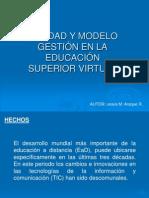Calidad y Gestion en La Educacion Superior Virtual