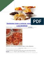 Deshidratar Frutas y Verduras