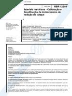 NBR 12240_00 - Materiais Metálicos - Calibração e Classificação de Instrumentos de Medição de Torque - 8pag