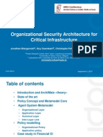 FARES 2013 _ Organizational Security Architecture for Critical Infrastructure