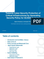 ICTDM2014 _ Towards Cyber-Security Protection of Critical Infrastructures by Generating Security Policy for SCADA Systems