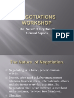 The Nature of Negotiations General Aspects.