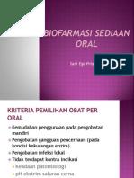 Biofarmasi Sediaan Oral