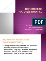 Non Routine Solving Problem