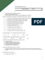 Prueba de Nivel Primero Medio Matemática