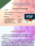 Exposicion Estructura Organizacional de LAIVE S.A