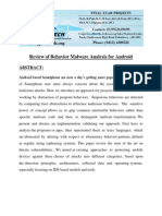 Review of Behavior Malware Analysis for Android Docx