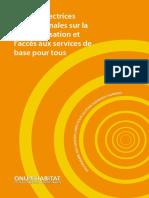 Lignes Directrices Internationales Sur l'Accès Aux Services de Base Pour Tous (International Guidelines on Decentralization and Access to Basic Services for All)