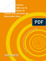 Lignes Directrices Internationales Sur l'Accès Aux Services de Base Pour Tous (International Guidelines on Decentralization and Access to Basic Services for All)