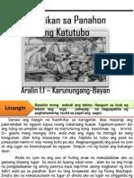 Hunyo 11 Filipino Aralin 1.1