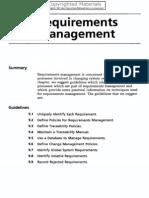 9. Requirements Management