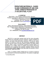 ON HIGH TEMPERATURE MATERIALS - CASES ON OXIDATION AND CORROSION OF AISI 310S STAINLESS STEEL SHEETS PRODUCED AT SAIL'S SALEM STEEL PLANT