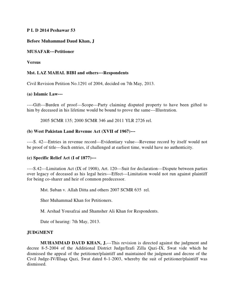 limitation for cancellation of sale deed