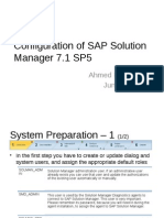 Configuration of SAP Solution Manager 7