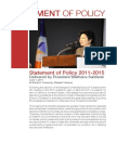 Statement of Policy Delivered by President Mathana Santiwat