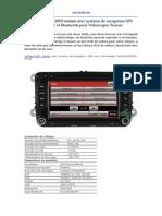 Bonne Lecteur DVD Voiture Avec Système de Navigation GPS Radio TV Et Bluetooth Pour Volkswagen Touran