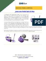 Esfregona com Pedal Spin & Mop