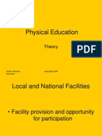 PE Local and National Facilities 2011