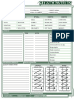 SR4 Shadowrun 4th Character Sheets Long Version