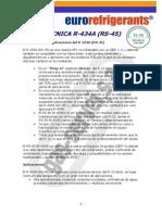 Caracteristicas Gas Refrigerante r434a_rs-45_tec
