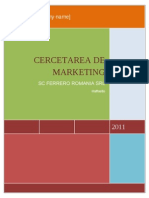 Cercetarea de Marketing - SC Ferrero Romania SRL