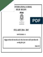 M II (Syllabus 2014 15)