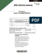 Hfe Onkyo TX-sr607 Service manual
