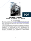 Kitchen Rudders - Their Inventor and Some Applications