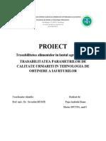 Popa Andrada Diana-Trasabilitatea Parametrilor de Calitate in Tehnologia de Obtinere a Iaurturilor