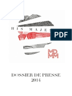 Dossier de Presse His Majesty- 2014