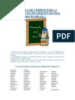 Coletânea de Verbos Para a Elaboração de Objetivos