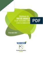 Programa Electoral Partido Animalista2014