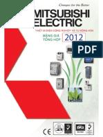Bang Gia Mitsubishi Electric 01-01-2012 SALE THIET BI DIEN