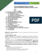 Tema 10 y 15 La Organización Política