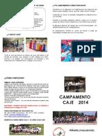 FOLLETO CAMPAMENTO2014