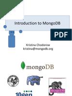 Introduction to MongoDB Presentation