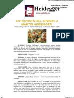 Heidegger en Castellano - Entrevista Del Spiegel