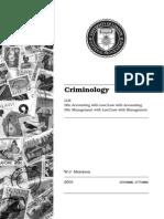 Criminology UK LLB UOL